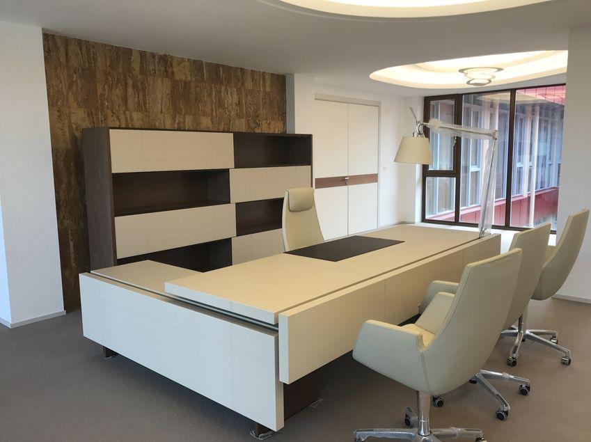 Progetto arredo ufficio libreville fiorenzo interior design for Progetto arredo